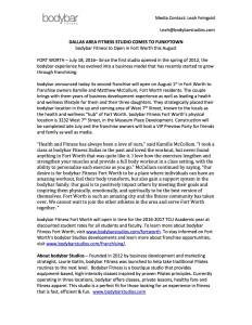 bodybar FortWorth-Press Release