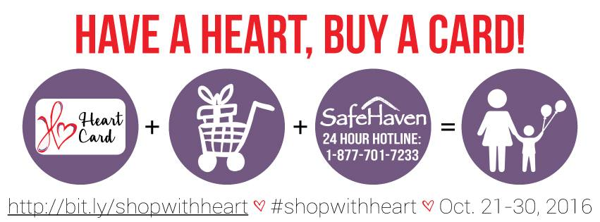 Shop at Domain XCIV with SafeHaven's HeartCard